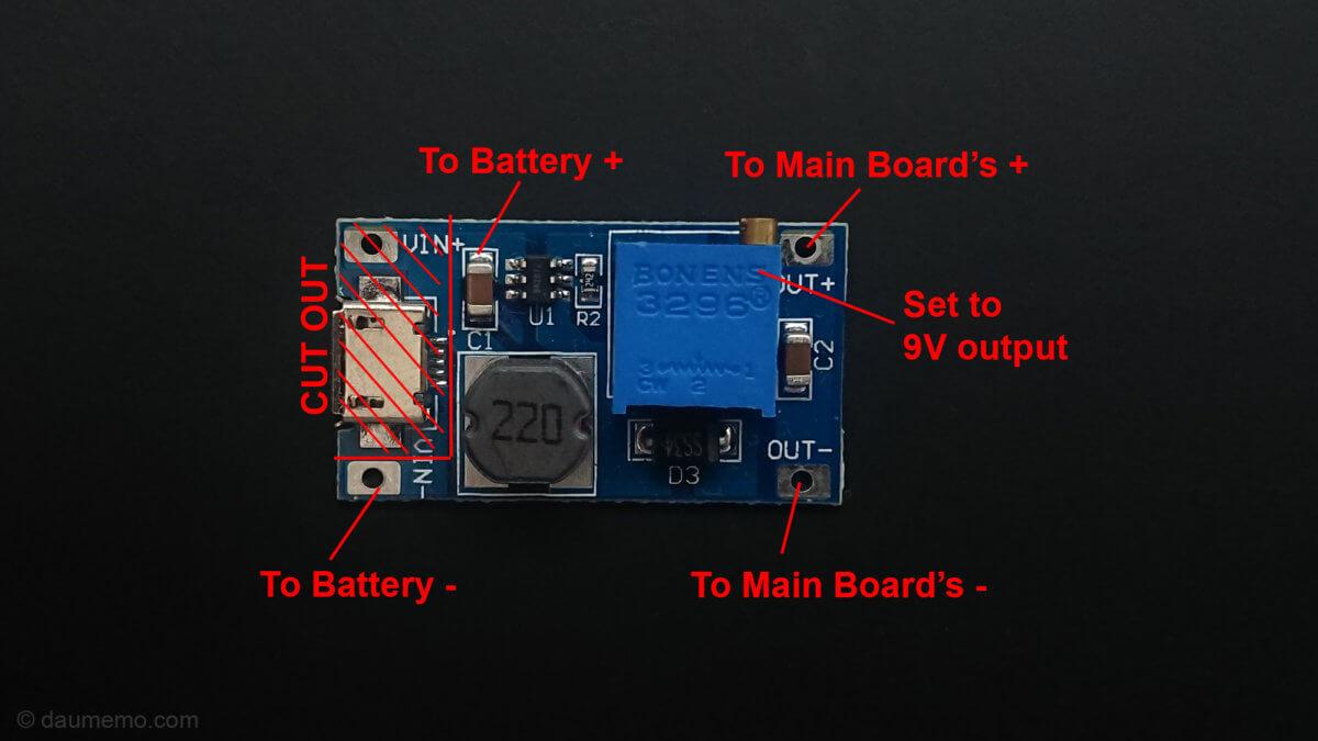 DSO Shell (DSO150) oscilloscope's portability modification